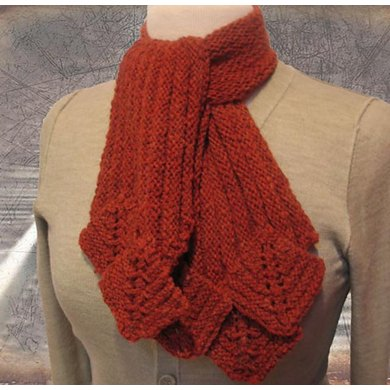 Limestone Scarf Stitch Red