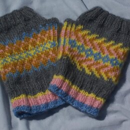 Fingerless Fair Isle Fun ... a lesson in colorwork