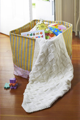 Twin Lakes Blankie in Lion Brand Cotton-Ease - 90657AD