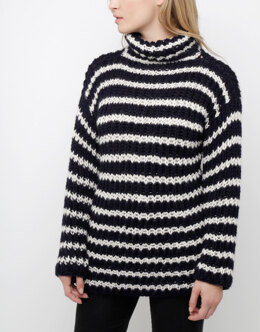 Meryl Stripe Sweater in Wool and the Gang Sugar Baby Alpaca - Downloadable PDF