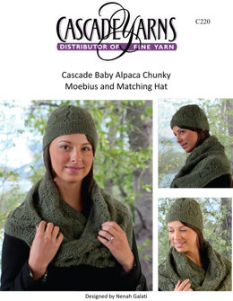 Moebius and Matching Hat in Cascade Baby Alpaca Chunky - C220