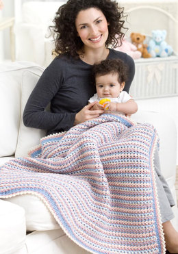Wrapped in Love Blanket in Red Heart Eco-Ways - WR2170 - Downloadable PDF