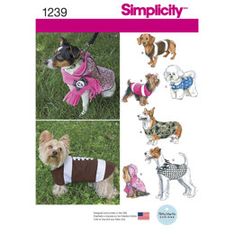 Simplicity Dog Coats in Three Sizes 1239 - Paper Pattern, Size A (S-M-L)
