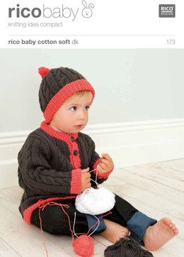 Cardigan and Hat in Rico Baby Cotton Soft DK - 173