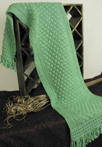 Friendship Green Shawl in Caron Simply Soft - Downloadable PDF