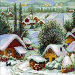 Riolis Wintery Serbian Village Cross Stitch Kit - R1670