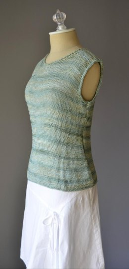 Simple Tank Top in Rozetti Yarns Lumen Multi - 1015 - Downloadable PDF