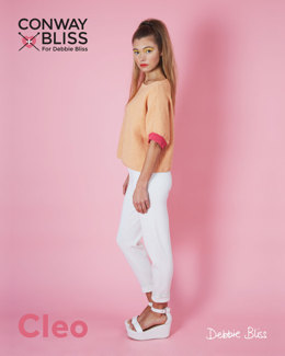 Moss Stitch Top in C+B Cleo - CB027 - Leaflet