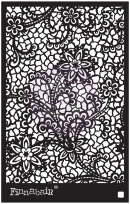 "Prima Marketing Stencil 6""X9"" - Floral Net"
