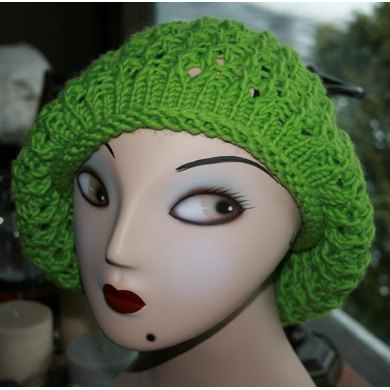 Winter Lace Slouchy Beret