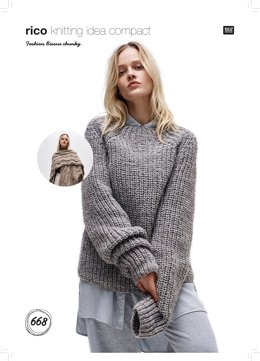 Poncho and Sweater in Rico Fashion Bisous Chunky - 668 - Downloadable PDF