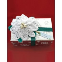 Poinsettia Gift Topper in Bernat Satin