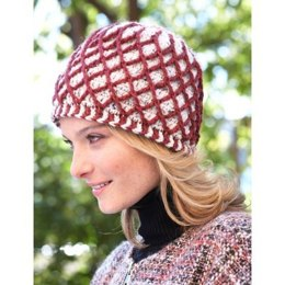 Lattice Hat in Patons Classic Wool Worsted