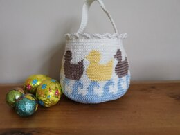 Easter basket ducks