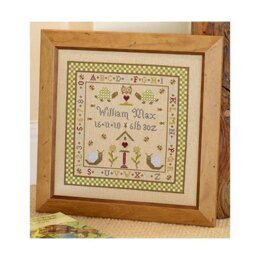 Historical Sampler Company Snail Birth Sampler Cross Stitch Kit - 16ct Aida
