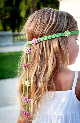 Summer Girl - knitted headband