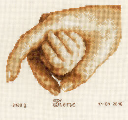 Vervaco First Touch Cross Stitch Kit - 16cm x 14cm