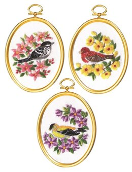 Janlynn Warblers and Finches Embroidery Kit - 3 x 4 inch