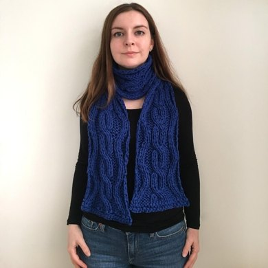 Rippled Cable Knit Scarf Knitting Pattern By Catherine Keaney