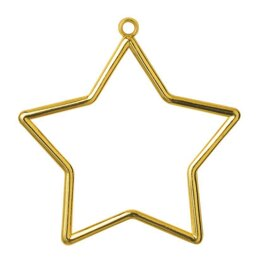 Vervaco Star Shaped Frame Gold Finish 9 x 7cm