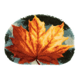 Vervaco Autumn Leaf Shaped Latch Hook Rug Kit