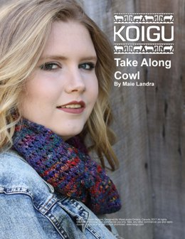Take Along Cowl in Koigu Painters Palette Premium Merino - Downloadable PDF