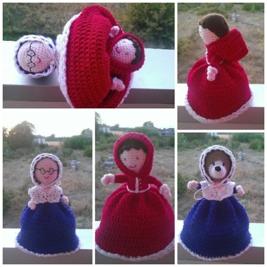 Red Riding Hood Topsy Turvy Doll! 3 dolls in 1!