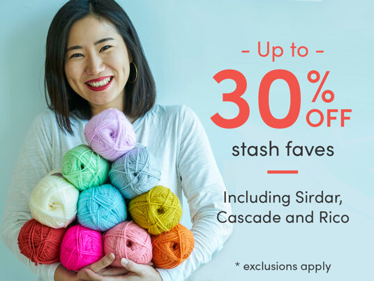 Up to 30 percent off stash faves!