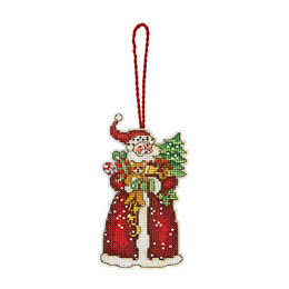 Dimensions Santa Ornament Cross Stitch Kit - 6.5cm x 12cm