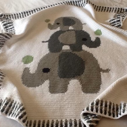 Crochet Baby Blanket Three Elephants Crochet Project By