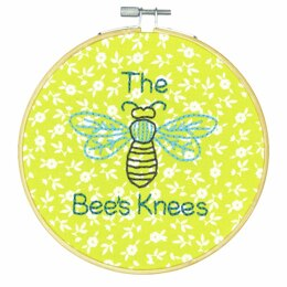 Dimensions The Bees Knees Crewel Embroidery Kit with Hoop - 6in (15cm)