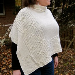 Adare Cabled Poncho