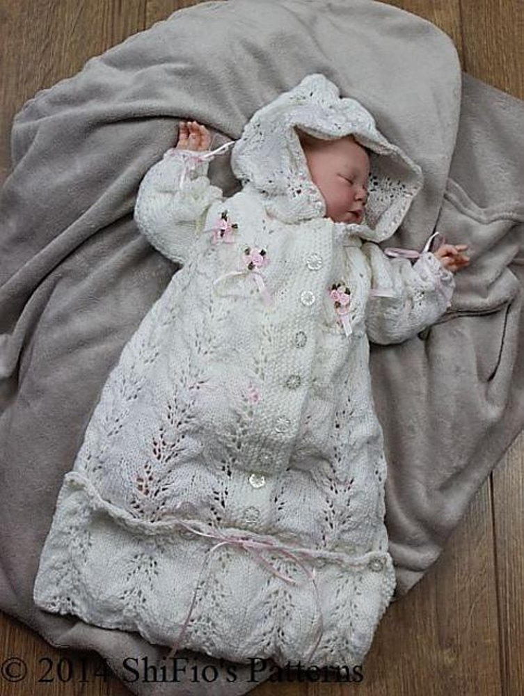 Knitted Baby Sleeping Bag Pattern 151 Zoom