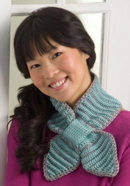 Bow Tie Neck Warmer in Red Heart Soft Solids - WR2033