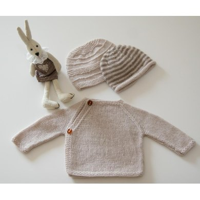 100% Cashmere Cache-coeur and two Baby Beanies