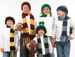 Team Scarves & Hats in Plymouth Encore Worsted - F215
