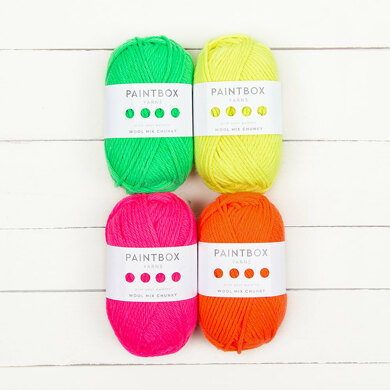 Paintbox Yarns Wool Mix Chunky 4 Ball Neon Color Pack