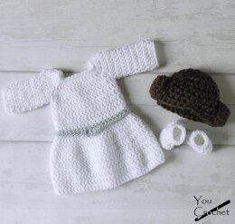You Crochet Princess Leia Dress Set