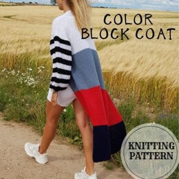 Color Block Coat-Cardigan
