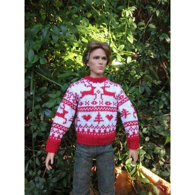 1:6th scale Reindeer Sweater