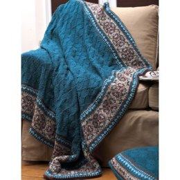 Fair Isle Border Blanket and Pillow in Patons Decor