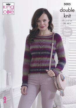 Sweater & Cardigan in King Cole Riot DK - 5005
