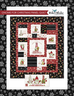 Riley Blake Gnome For Christmas Panel Quilt - Downloadable PDF
