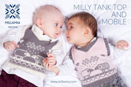 """Milly Tank Top and Mobile"" - Top Knitting Pattern For Babies in MillaMia Naturally Soft Merino"