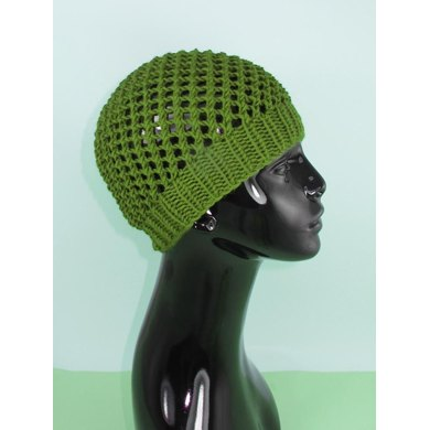 Simple Chunky Lacey Skullcap Hat