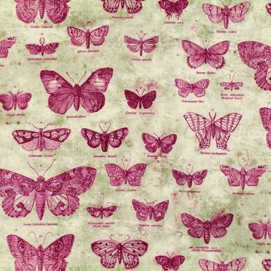 Free Spirit Eclectic Elements Butterfly Red