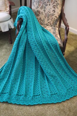 Spring Cables & Lace Throw