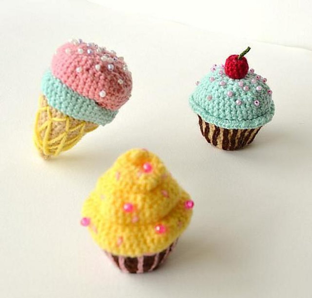 Cupcakes and ice cream cone amigurumi bulk crochet pattern no28 zoom bankloansurffo Image collections