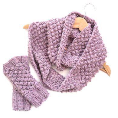 Berry Cowl and Gloves