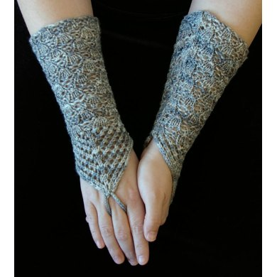 Chandelier fingerless gloves